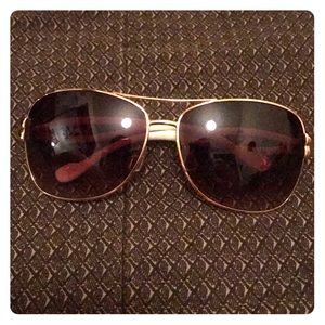Jessica Simpson Brown/White Aviator Sunglasses
